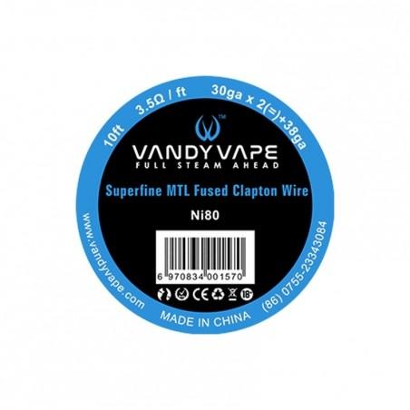 Superfine MTL Wire Vandy Vape Ni80