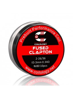 Pack 10 Fused Clapton Ni80 Coilology 0.34 Ohm