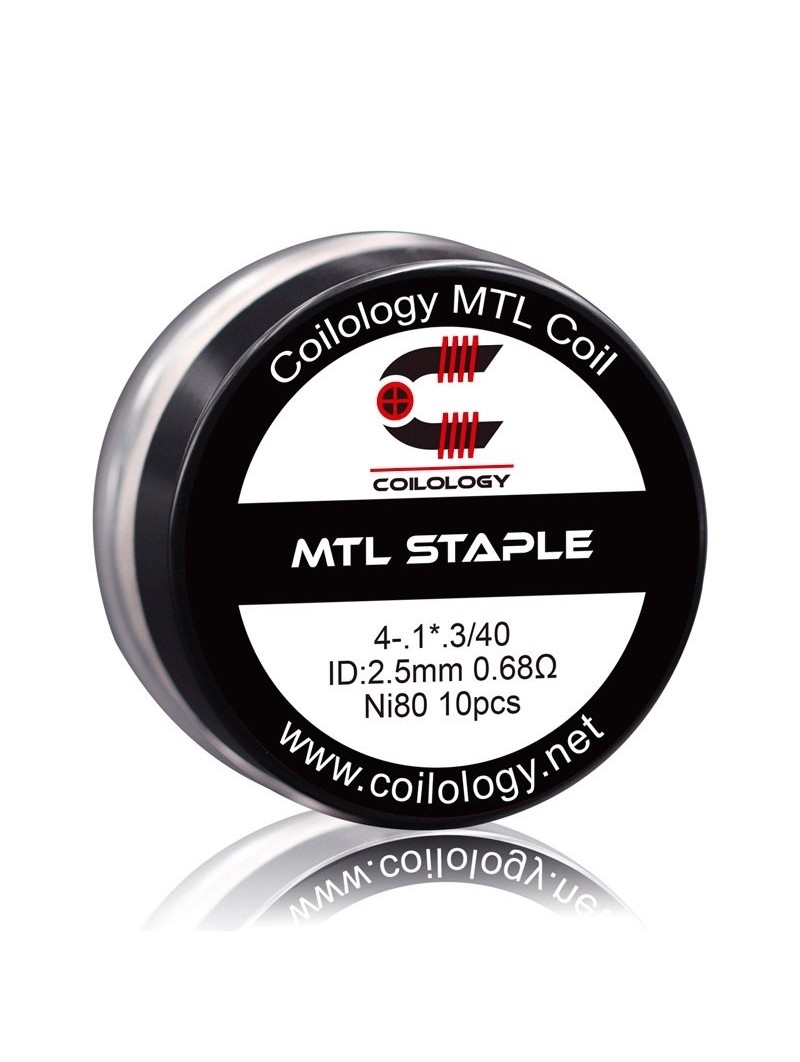 Pack 10 MTL Staple Coilology 0.68 Ohm