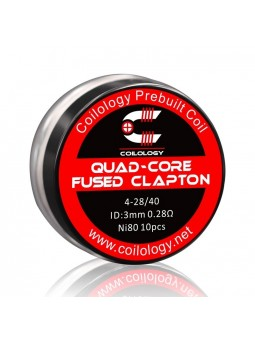 Pack 10 Quad-Core Fused Clapton Coilology 0.28 Ohm