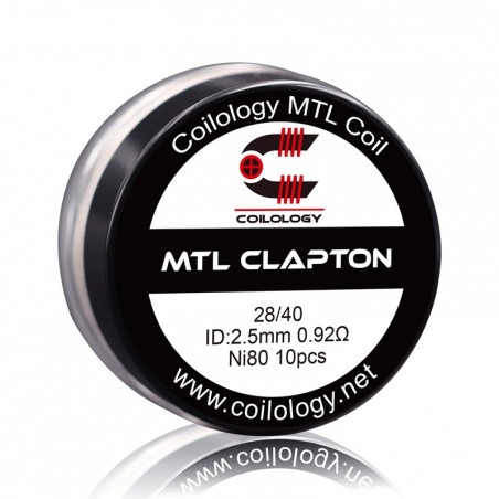 Pack 10 MTL Clapton Coilology 0.92 ohm