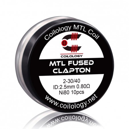 Pack 10 MTL Fused Clapton Coilology 0.80 ohm