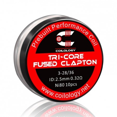 Pack 10 Tri-Core Fused Clapton Coilology